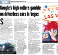 Google's high-rollers gamble on driverless cars in Vegas